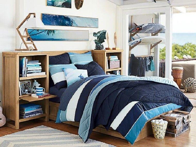Dormitorio para adolescentes para chicos con camas de - Dormitorio de madera ...