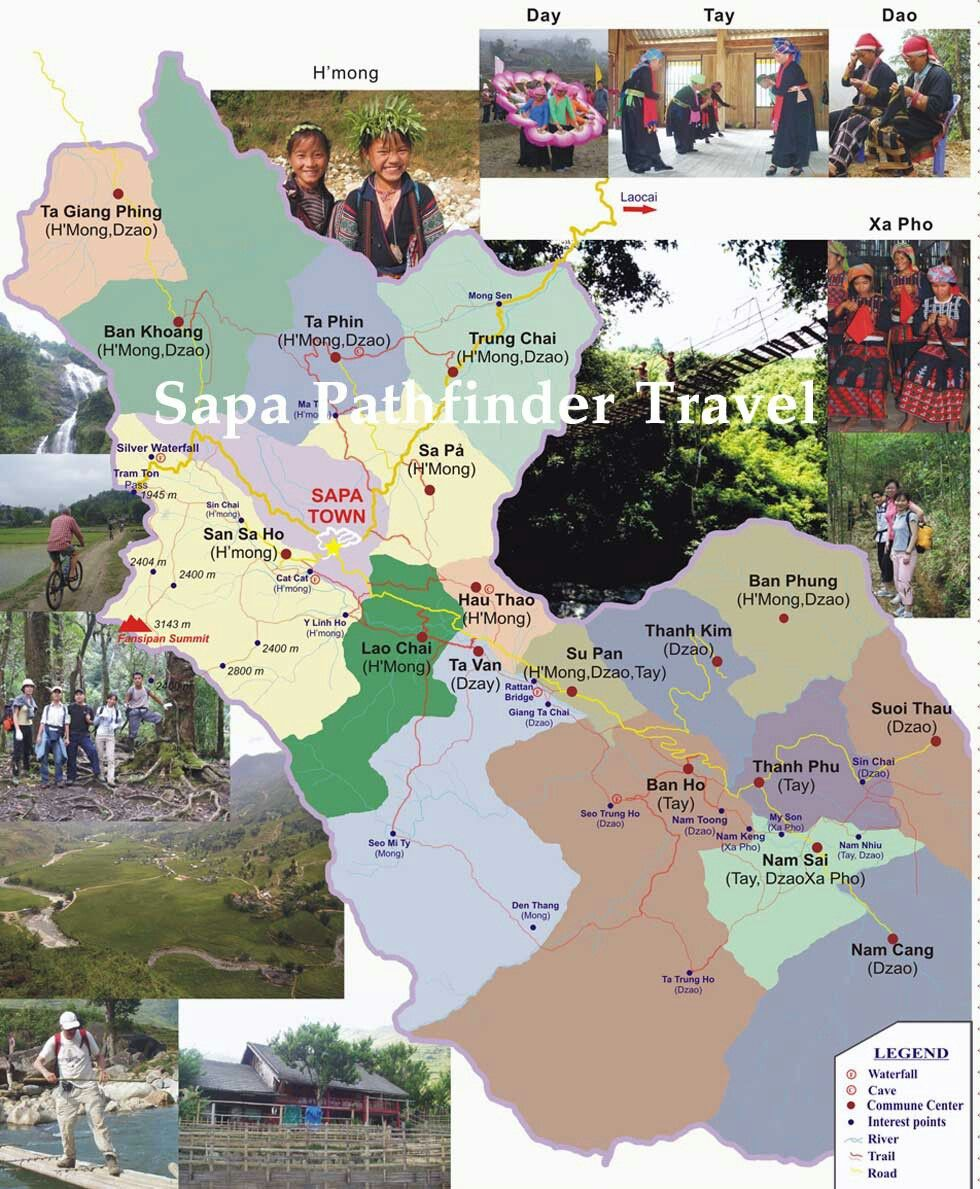 Mountains In Vietnam Map.Sapa Vietnam Map Sa Pa Is A Town In The Hoang Lien Son Mountains