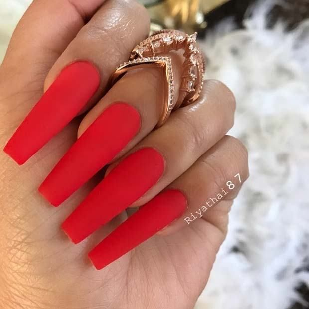 11 Matte Coffin Nails You Need to Try this Summer | Rote