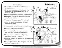 Lab Safety on Pinterest | Science Lab Safety Science Labs and Safety