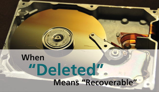 how to find if a hard drive was properly erased