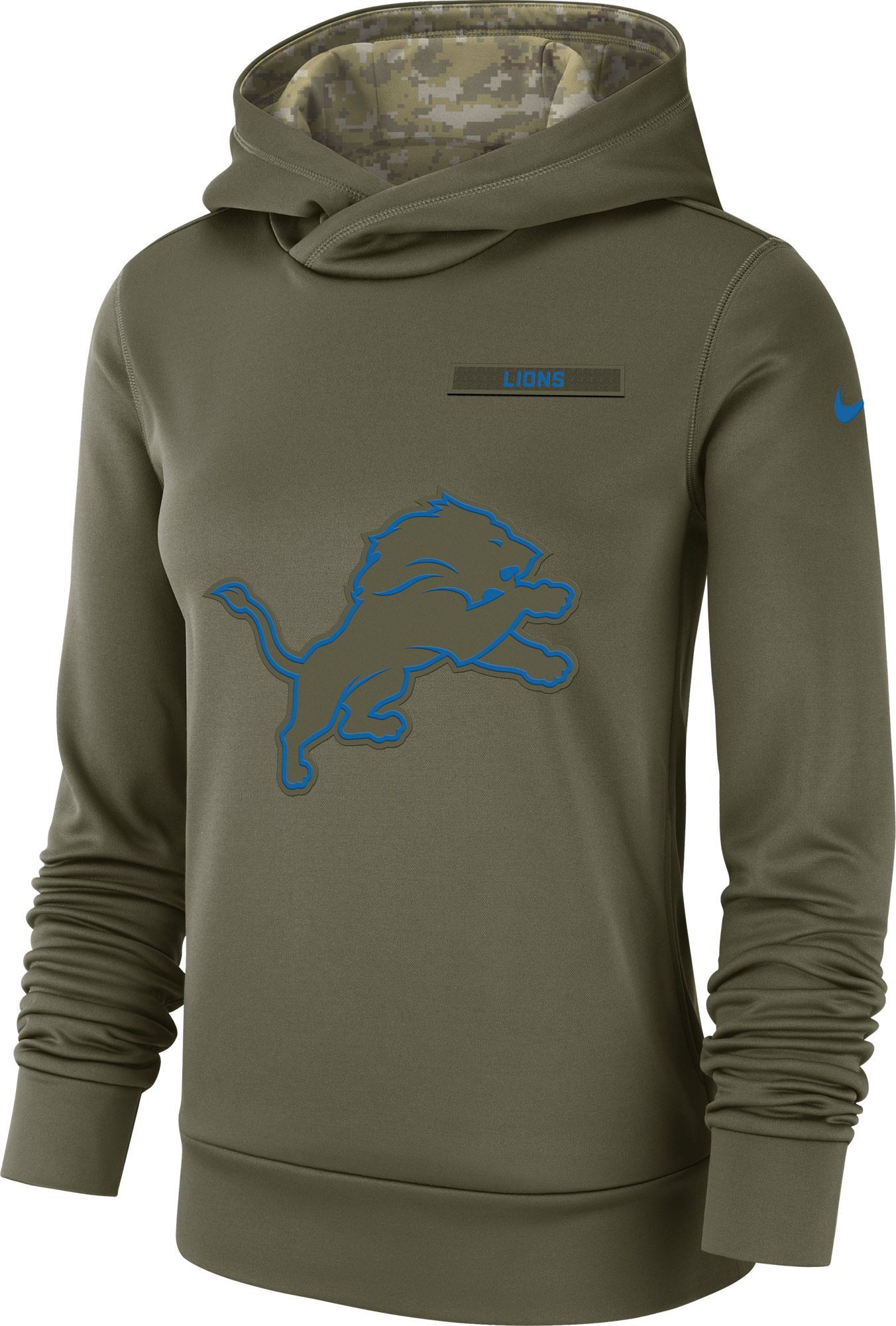 e972fa387 Nike Women s Salute to Service Detroit Lions Therma-FIT Performance ...