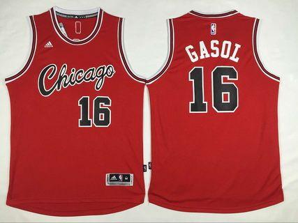 Chicago Bulls #16 Pau Gasol Revolution 30 Swingman 2014 Christmas Day Red Jersey