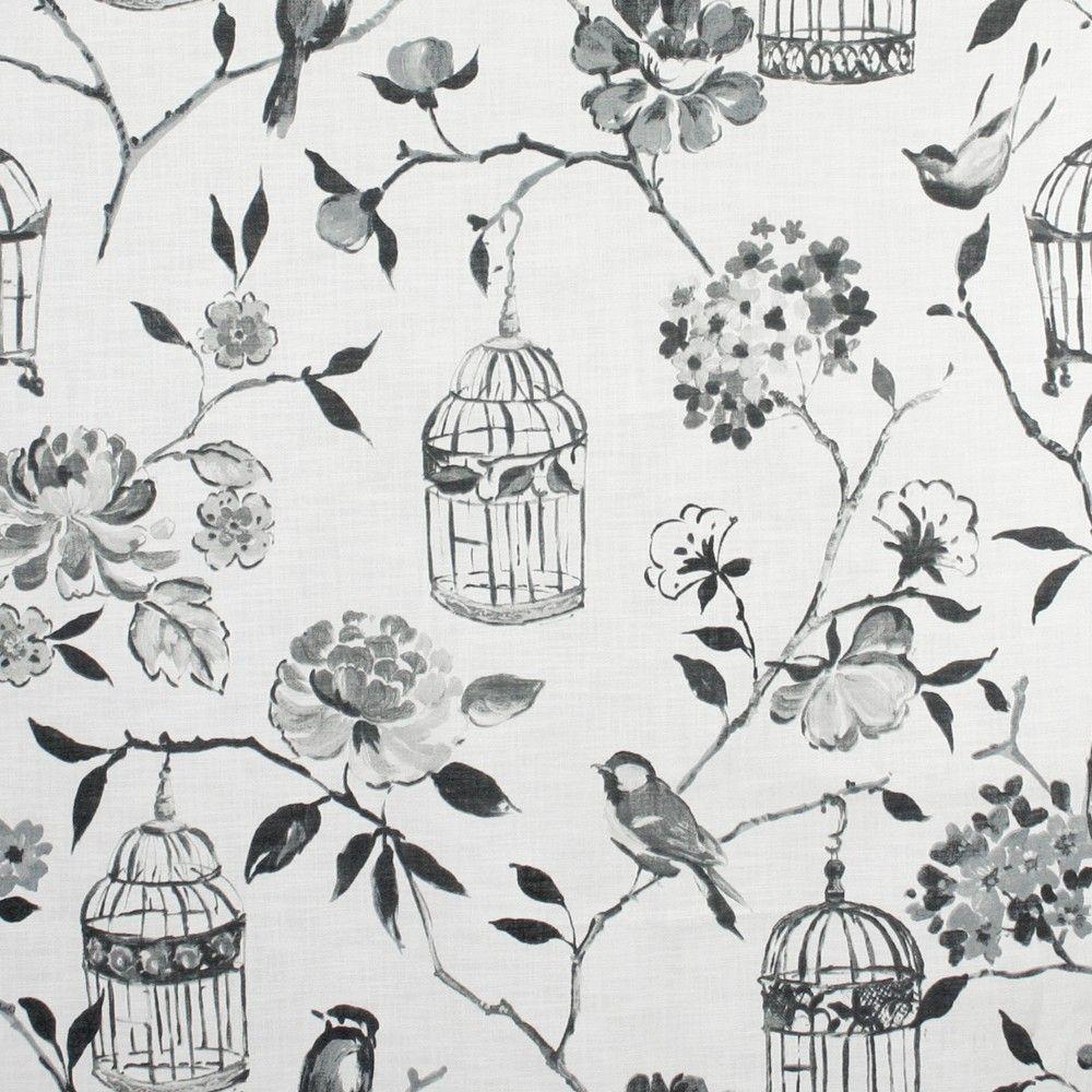 Home Decor Fabric - P.T. Prestigious - Birdcage - Charcoal