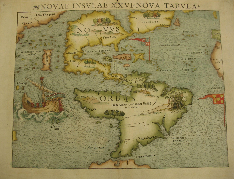 North & South America Novae Insulae XXVI Nova Tabula by Sebastian ...