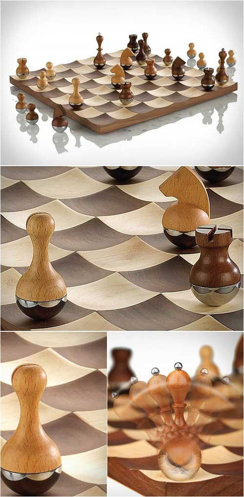Wobble chess set by umbra product design productdesign industrial design products - Umbra chess set ...