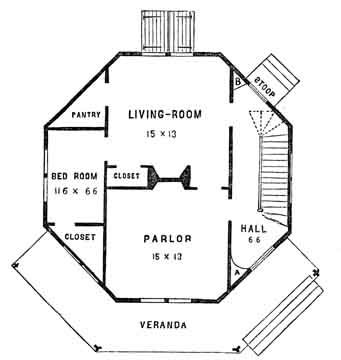 File H7g Fowler Plan Small Jpg Octagon House How To Plan House Plans