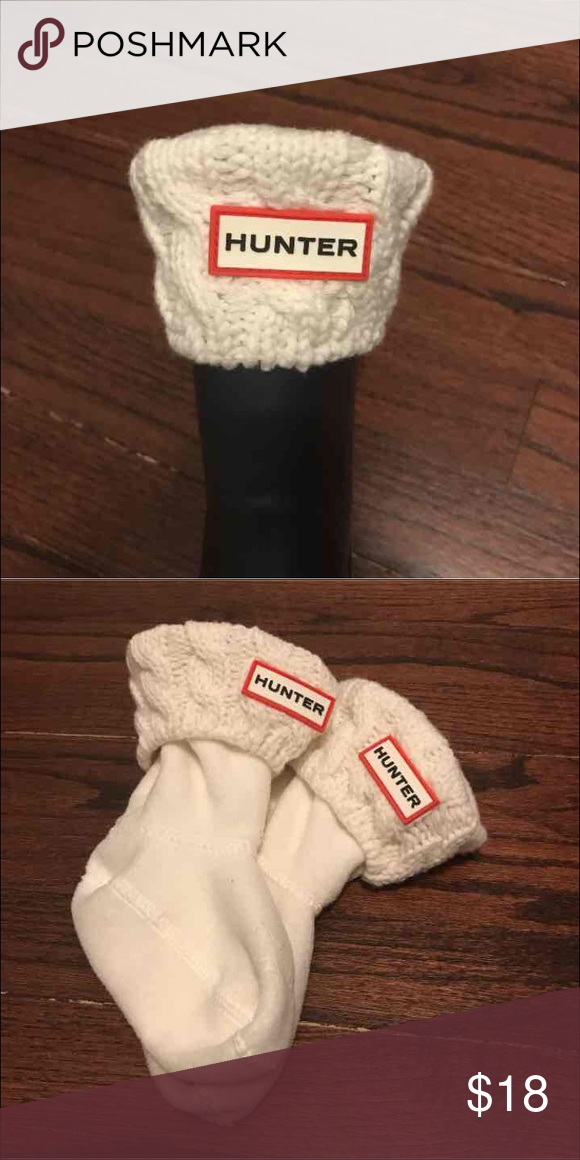Knit Top Kids Hunter Socks Toddler size 8-10 cream knit top socks. Good condition. Hunter Boots Shoes Boots