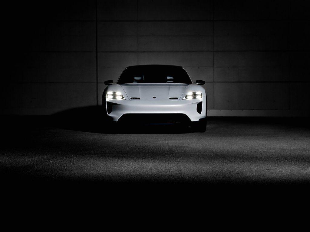 Porsche Mission E Cross Turismo Front Dark 2018 Wallpaper With