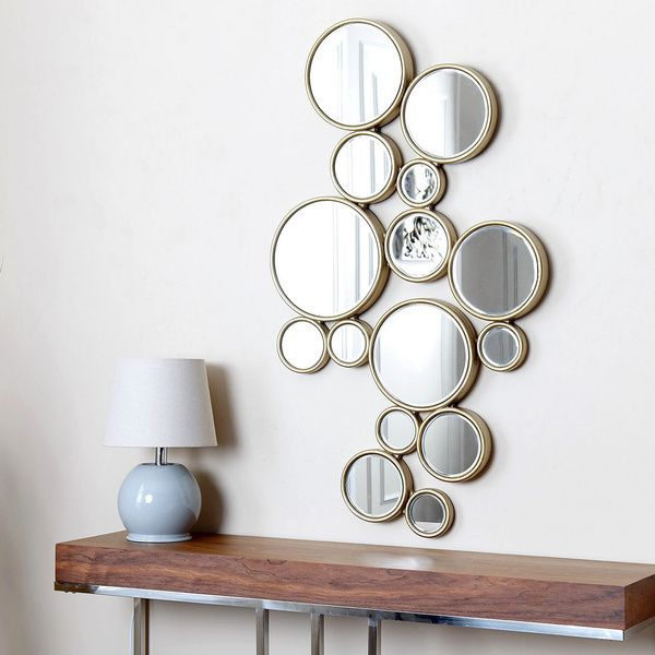 Different Shaped Mirrors abbyson danby circles wall mirrorabbyson | walls, master
