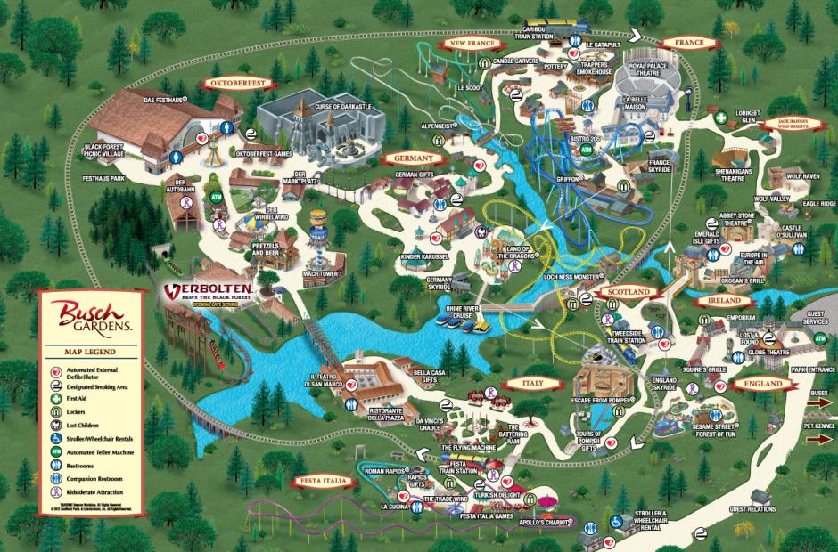 Busch Gardens Water Park In Tampa