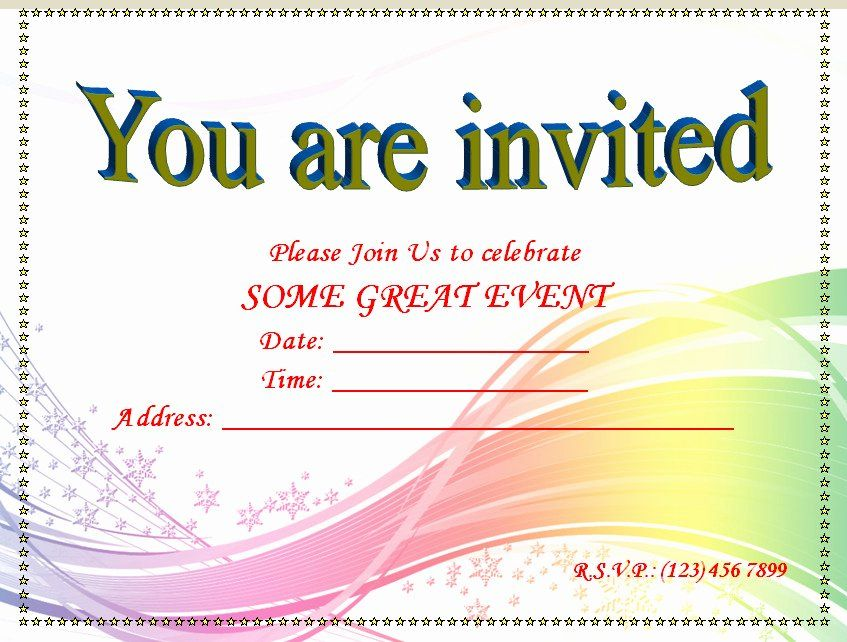 Party Invitation Template Microsoft Word Awesome Invitation Youth Minister River In 2020 Invitation Templates Word Party Invite Template Printable Invitation Templates