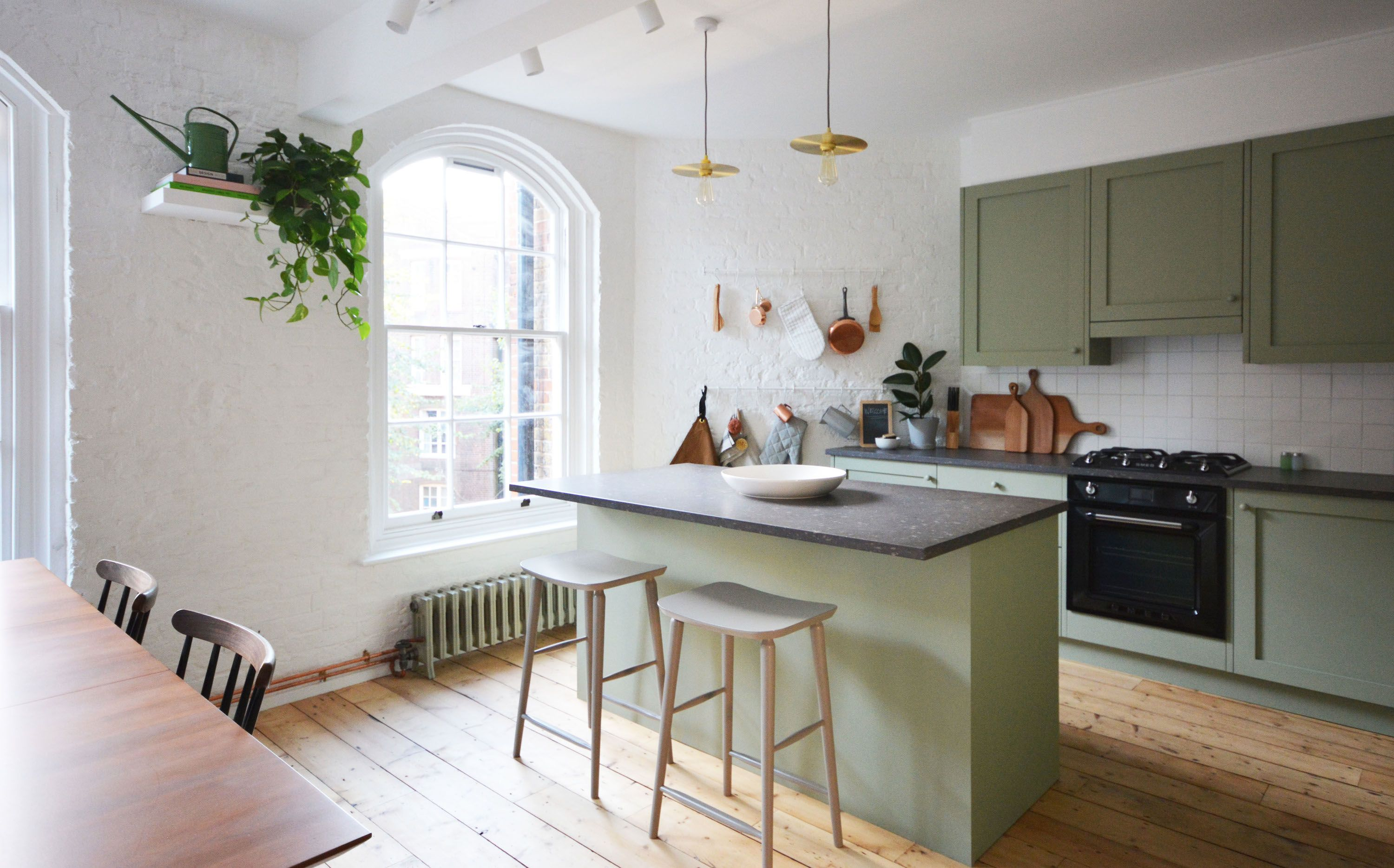 Minty Hues And Plants In The Kitchen. Flat 15 Design Blog U2013 Shoreditch, East