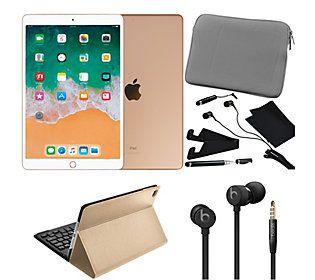 "Apple iPad Air 10.5"" 64GB Bundle with urBeats3& Accessories - QVC.com"