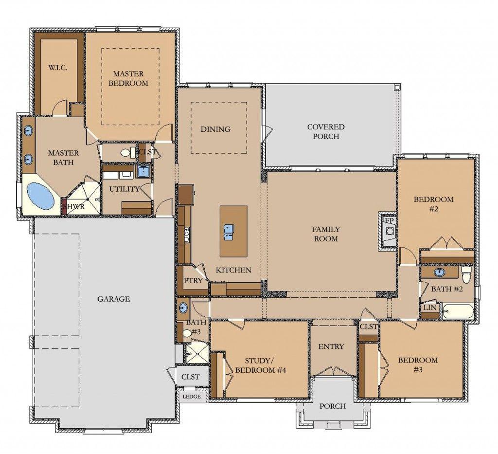 2602 sq ft Llano – Custom Homes By Jeff Floor Plans