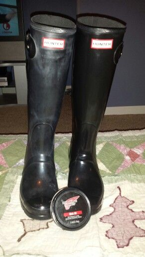 db40c2d3fc2 Dull black hunter boots?? Red wing shoes mink oil, a soft rag and a ...