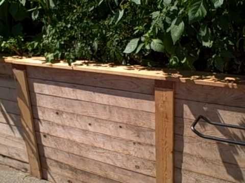 Cedar Raised Bed Trim Edging With Built In Copper Slug Snail
