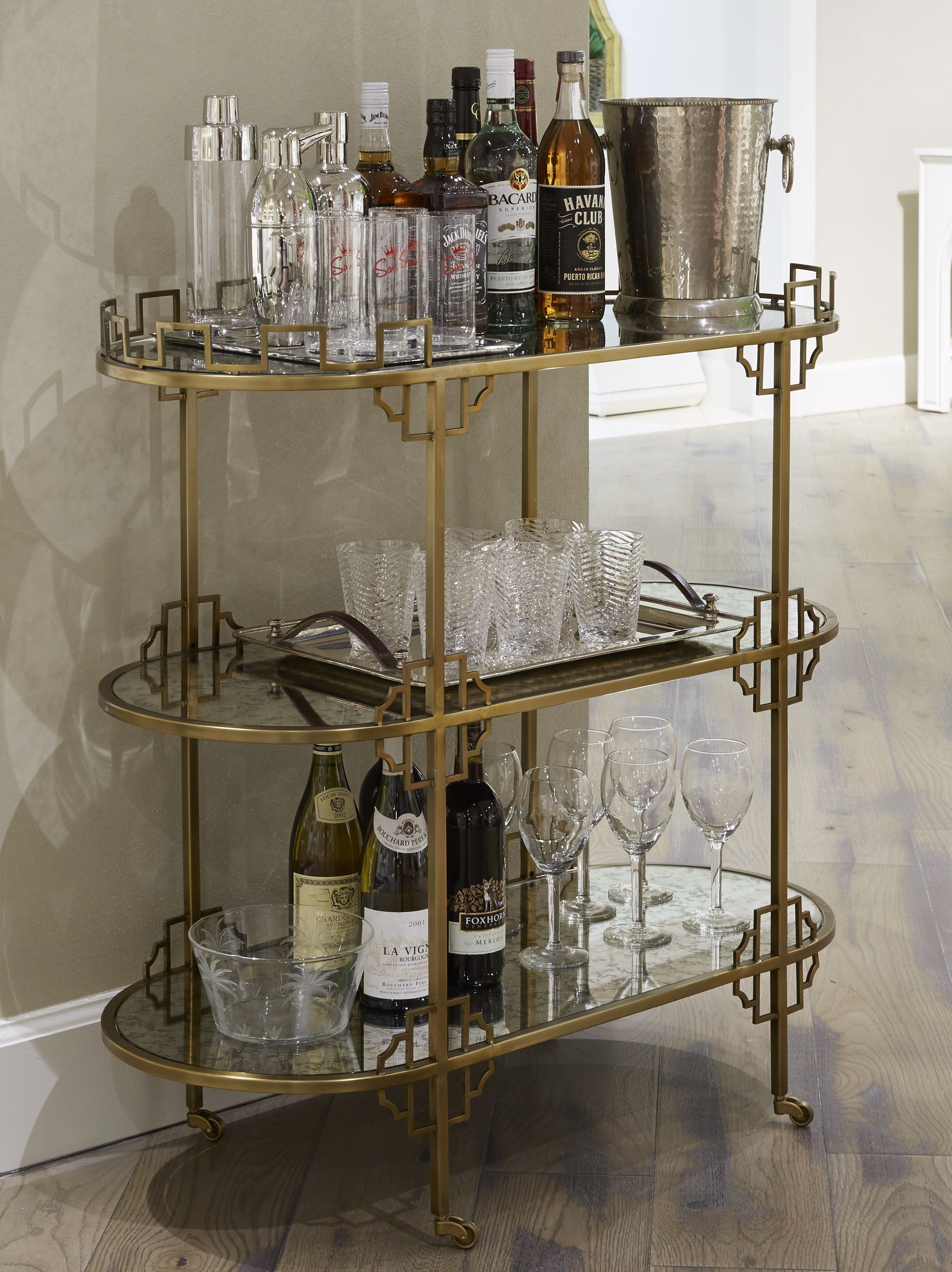 Elegant Bar Cart In The New Havana Collection From Stanley Furniture
