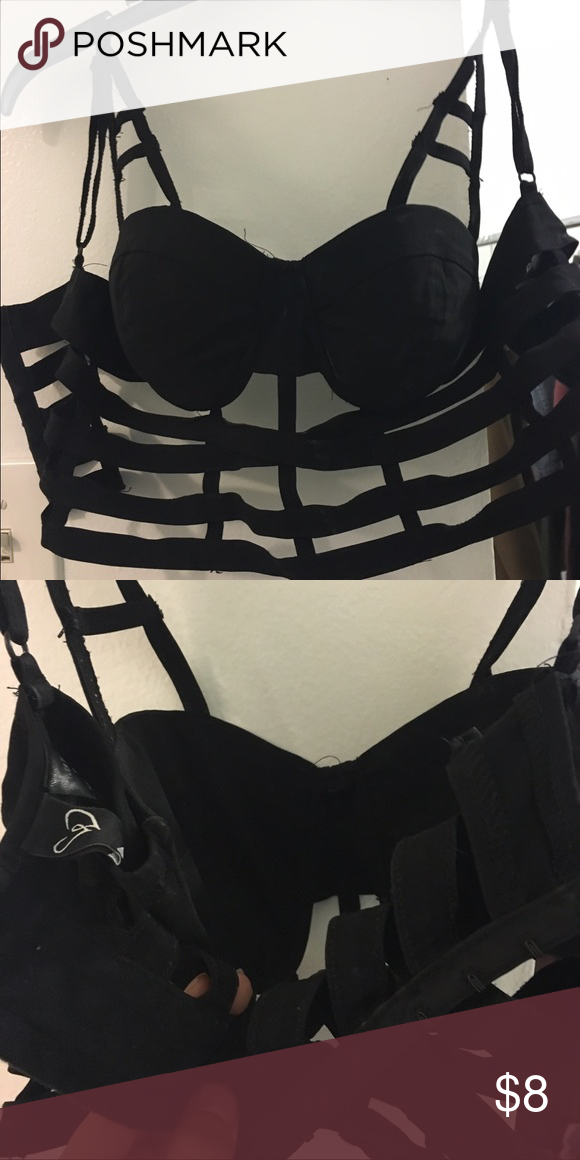 96cc442985 Black bustier   bralette Size S. Bought at Windsor WINDSOR Tops Crop Tops