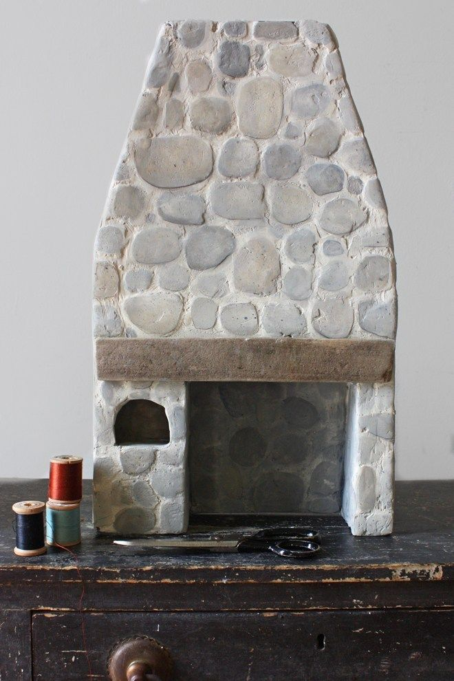 the miss thistle society : make a miniature stone hearth #dollhouseminiaturetutorials