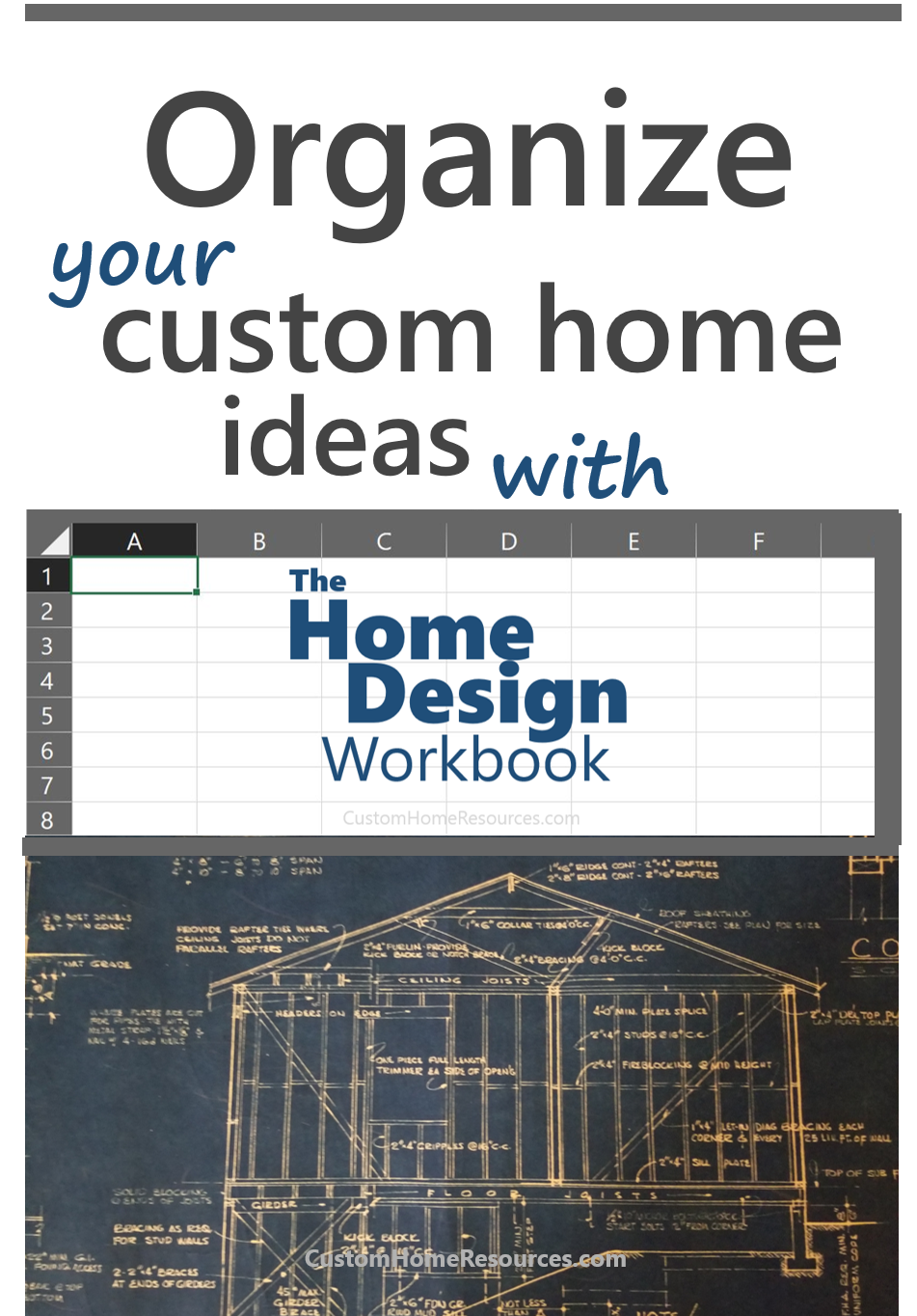 organize your custom home ideas with our spreadsheet so you can