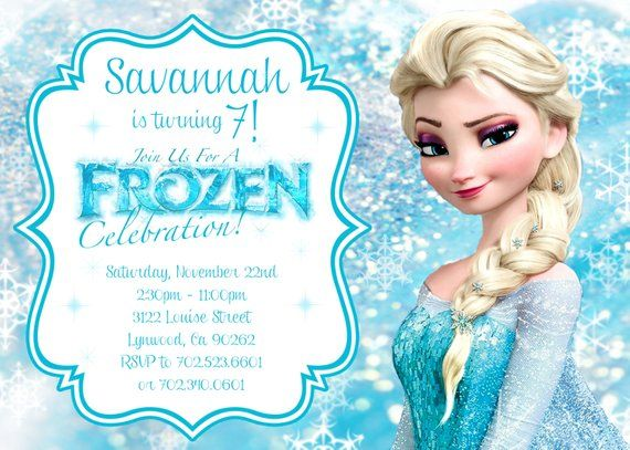 graphic about Frozen Birthday Card Printable titled Elsa Frozen Birthday Invitation - PRINTABLE Goods inside of