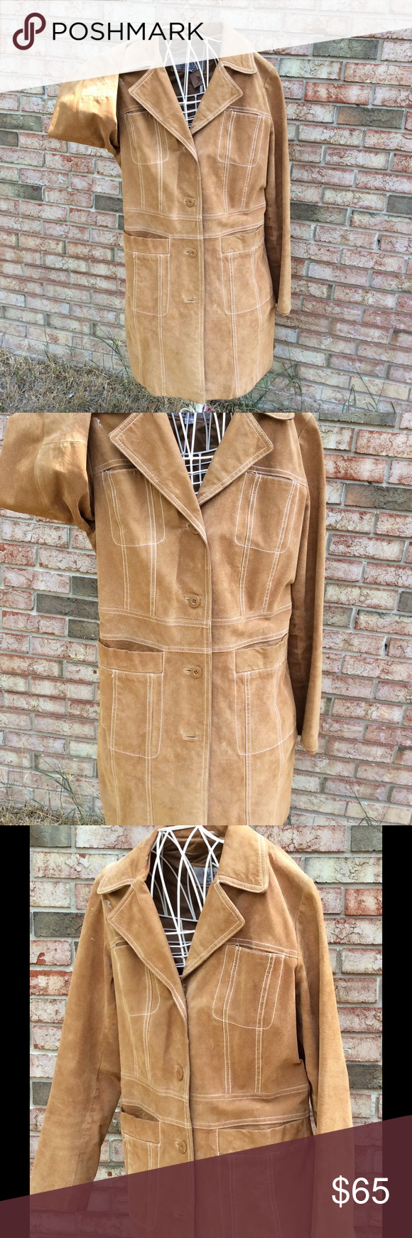 Wilson suede coat size Large ( vintage) Great vintage