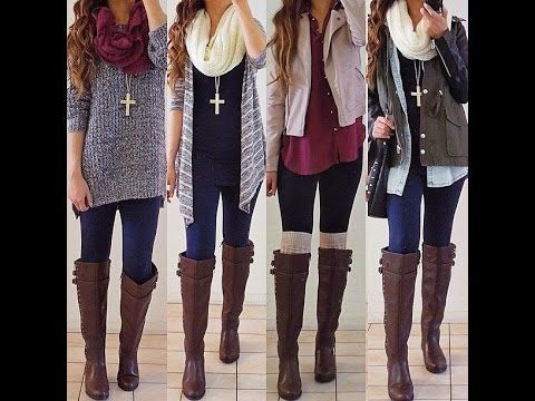 Los Mejores Outfits con Leggins - YouTube | Videos outfits | Pinterest | Winter Moda and Autumn