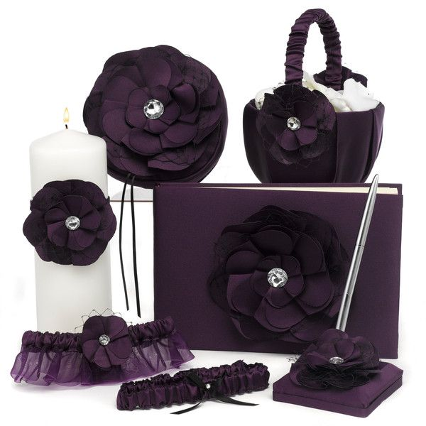 Eggplant Purple - The entire 6 piece Flower Fantasy Wedding Ceremony Collection.