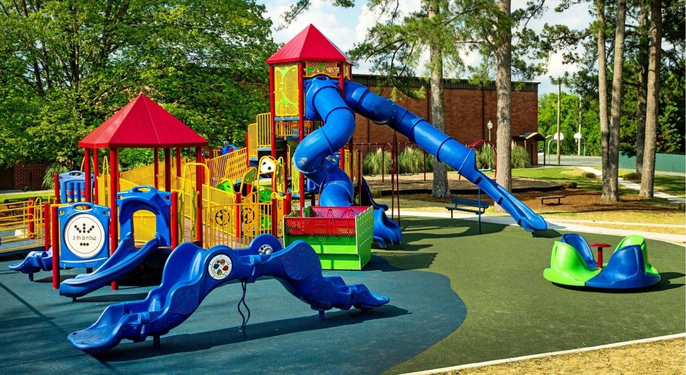 Why Soft Surfaces are essential for playgrounds and child safety in the UK  - ThinkComputers.org   Playground, Playground surface, Child safety