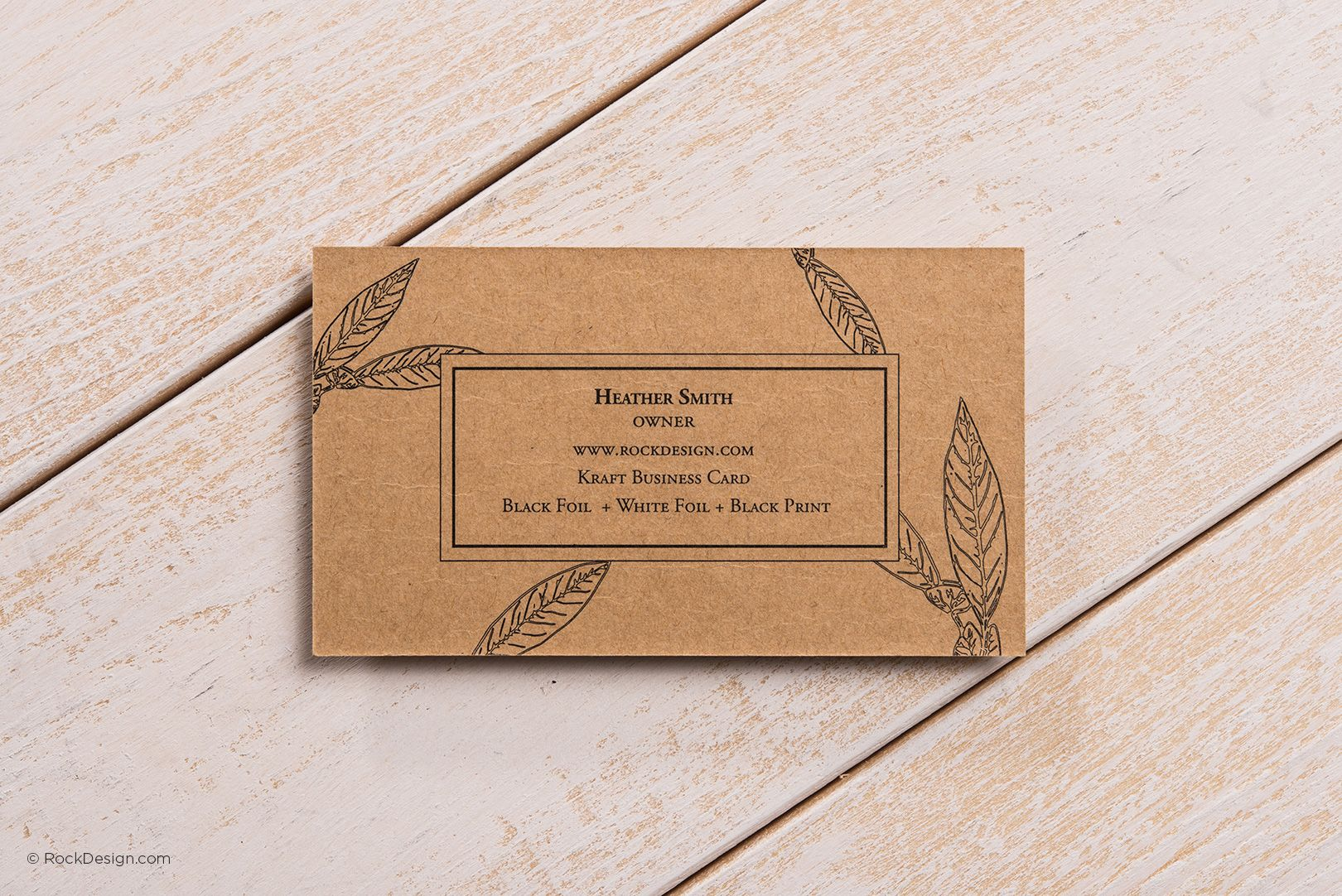 Fancy rustic brown kraft business card heathers rockdesign high end business cards and free business cards templates magicingreecefo Choice Image