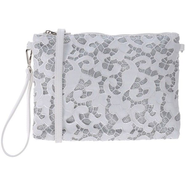 Marina Galanti Handbag (78.030 COP) ❤ liked on Polyvore featuring bags, handbags, white, two tone purse, print bags, man bag, pattern bag and handbag purse