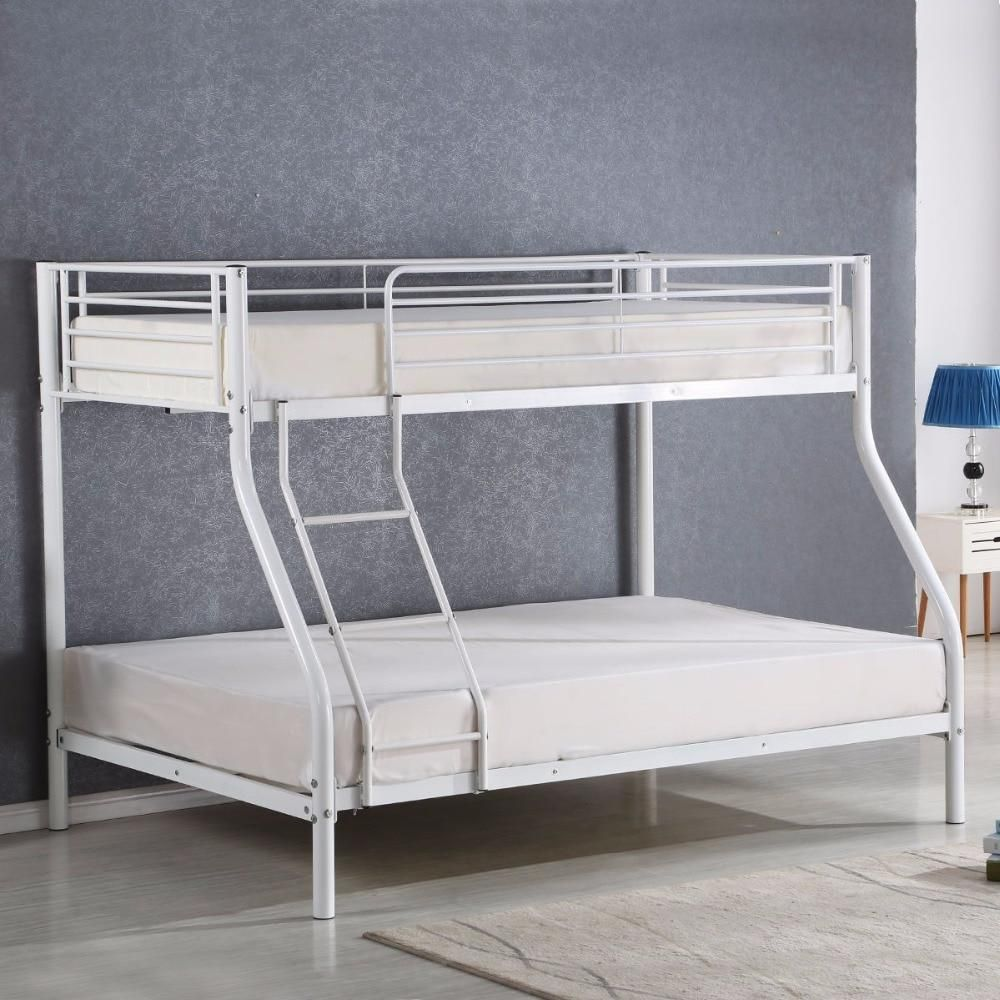 Twin Full Size Metal Bunk Beds With Images Metal Bunk Beds
