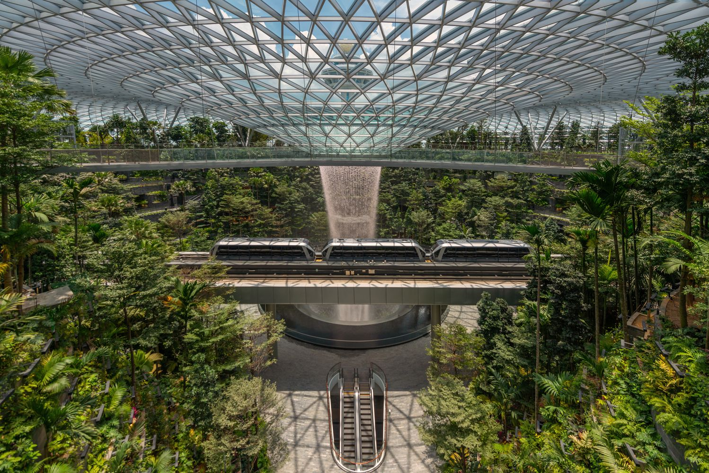 Gallery Of Safdie Completes World S Tallest Indoor Waterfall In
