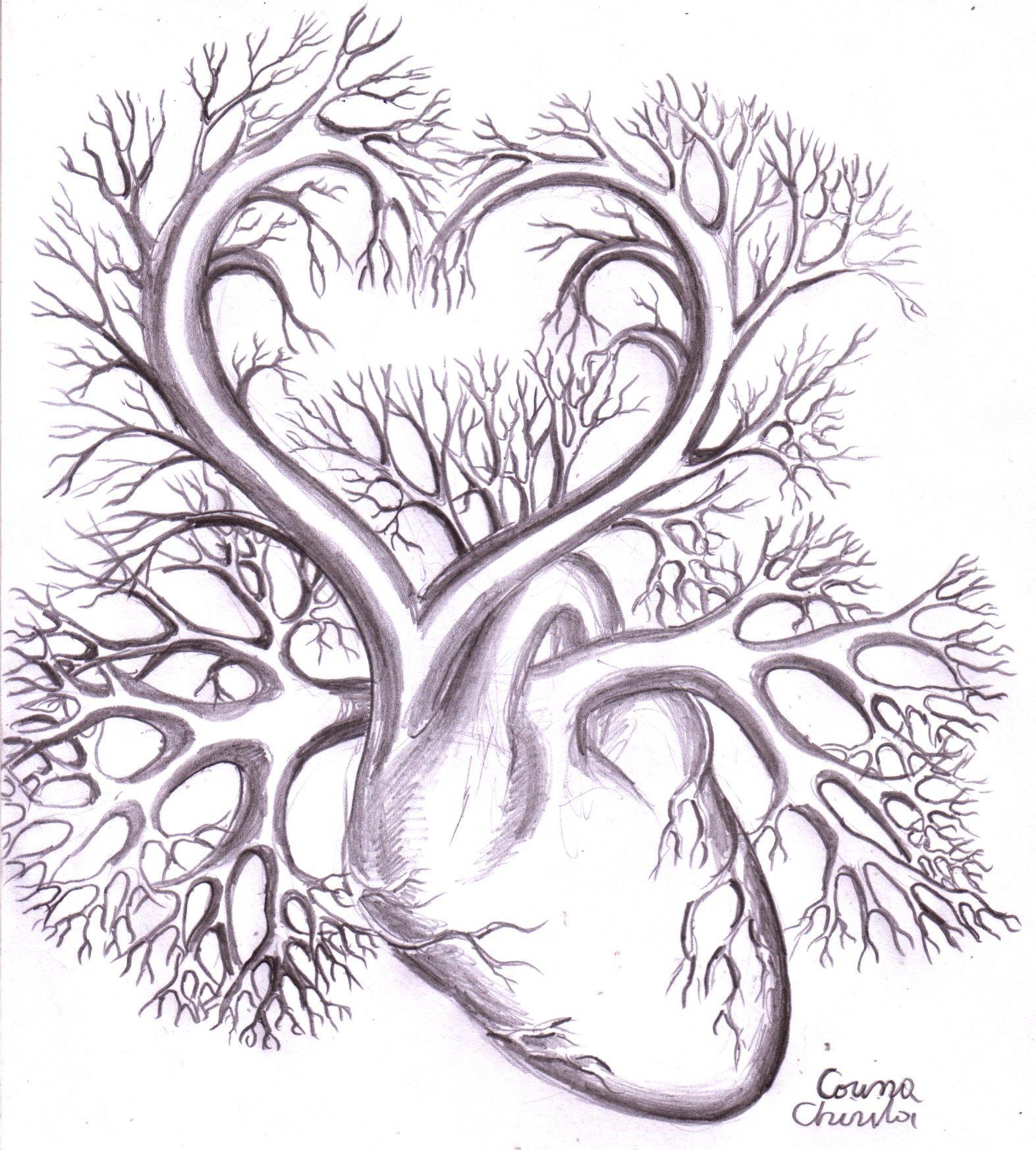 Heart Drawings - Dr. Odd | Heart drawing, Beautiful pencil ...