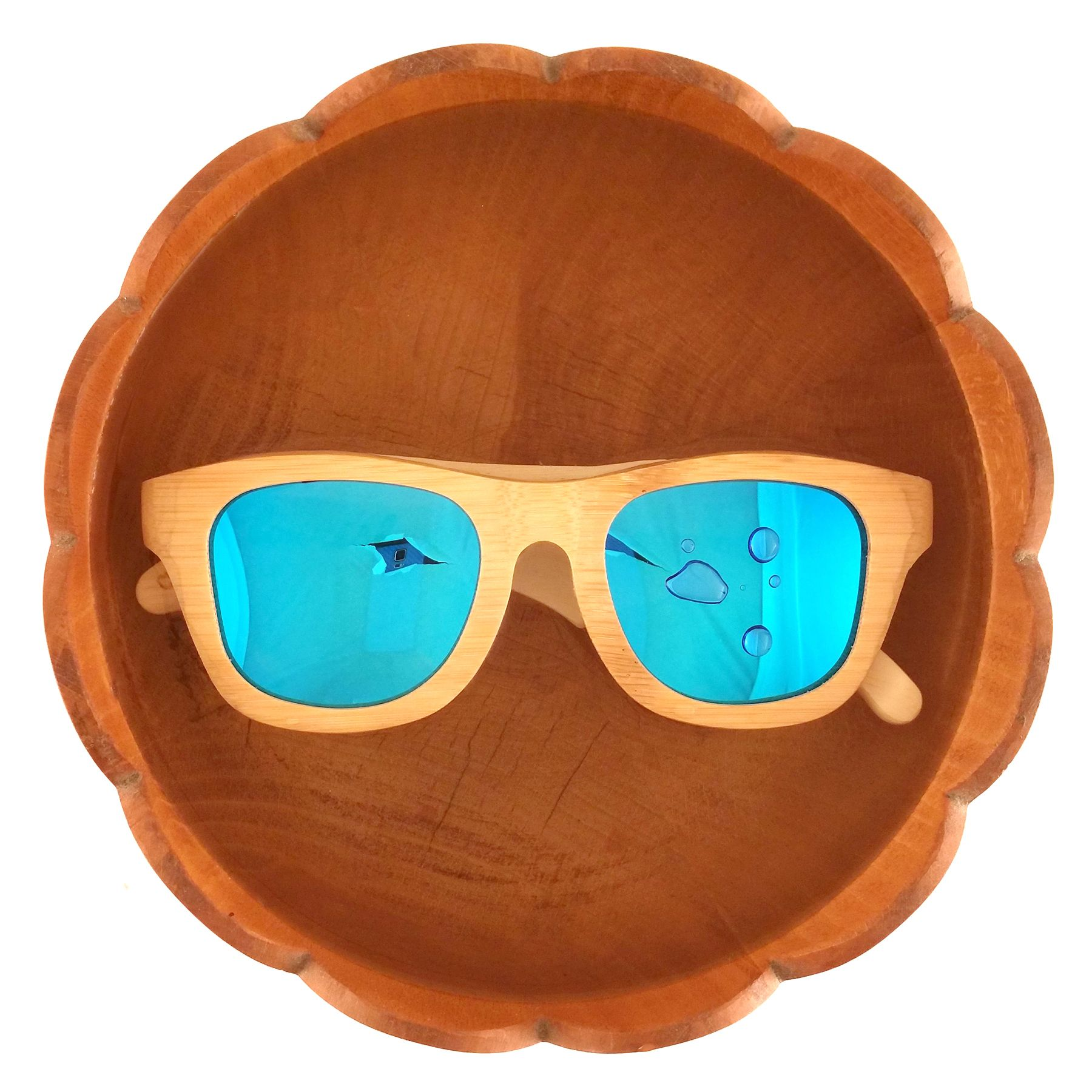ba63e8cd31 Flourish blue polarized bamboo wood sunglasses from Thrive Shades. Yes