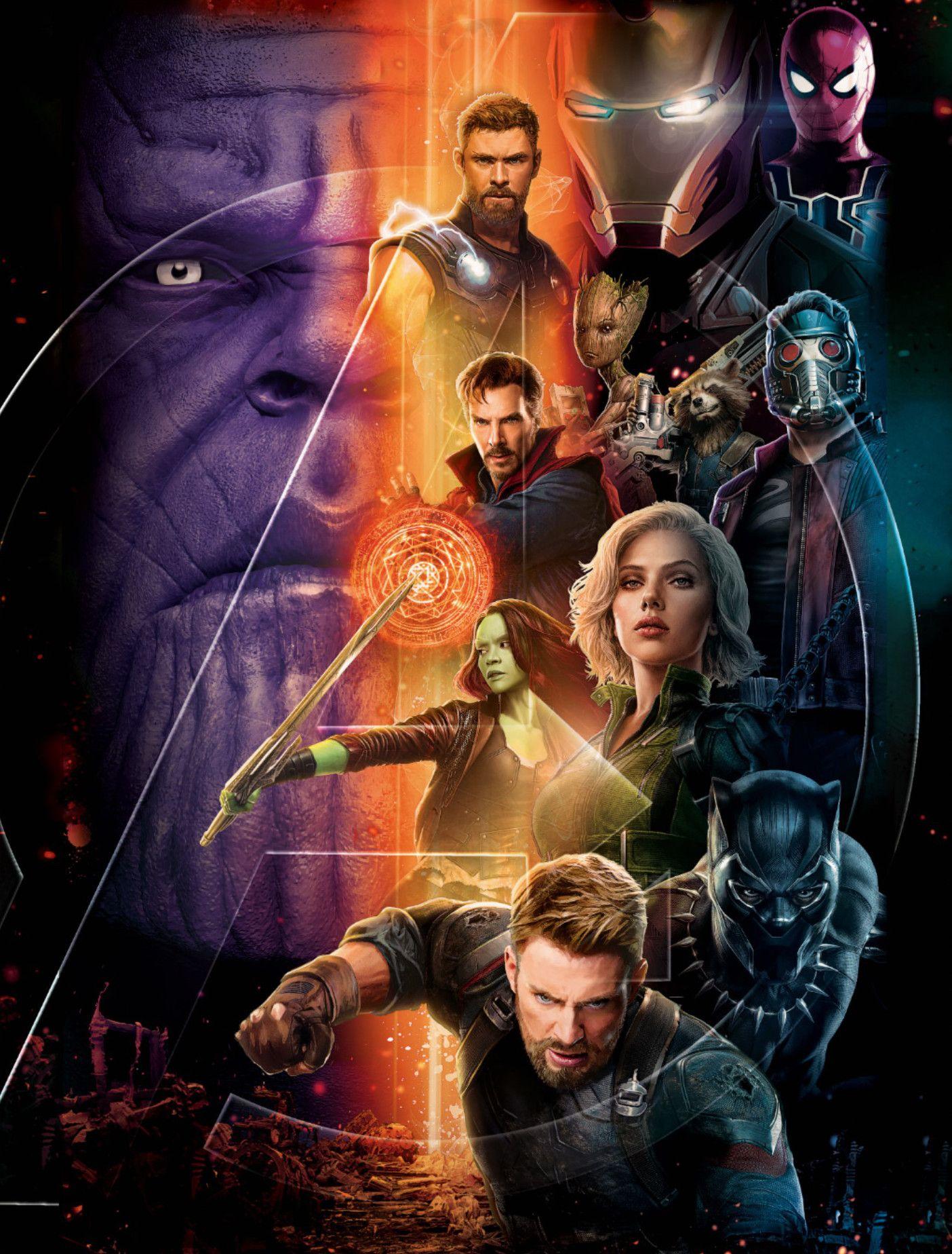 Avengers Infinity War Assembles In New Poster Art Marvel Cinematic Marvel Cinematic Universe Avengers Infinity War