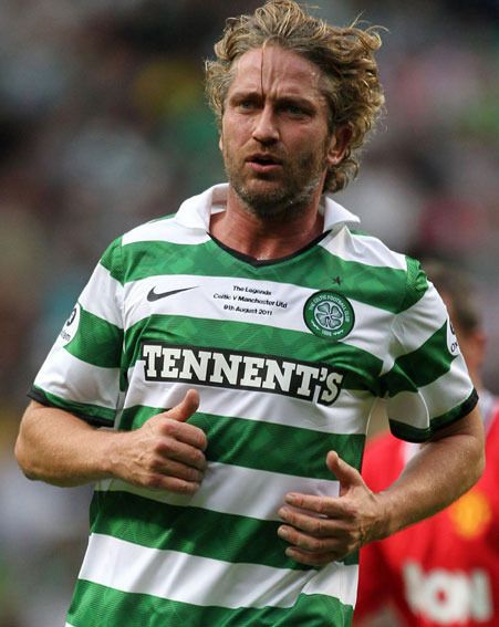 Gerard Butler Stole The Show For Celtic At Parkhead Last Night ...