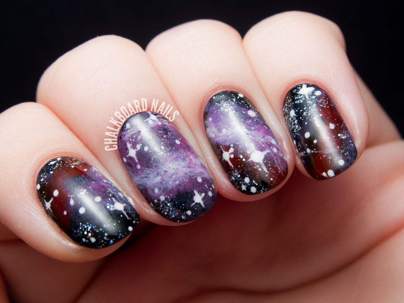 Purple Galaxy Nails, Inspired by the Pelican Nebula | Galaxy nail ...