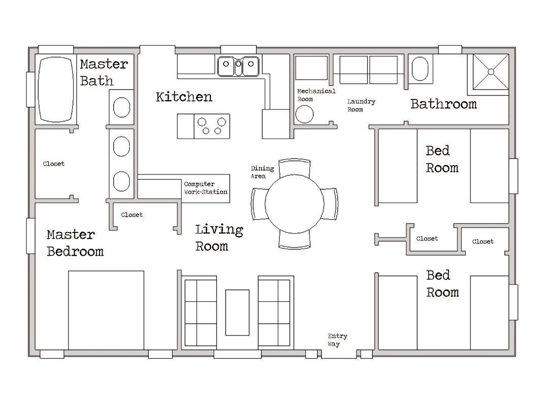 Small House Plans Under 800 Sq Ft Small House Floor Plans House Plans New House Plans