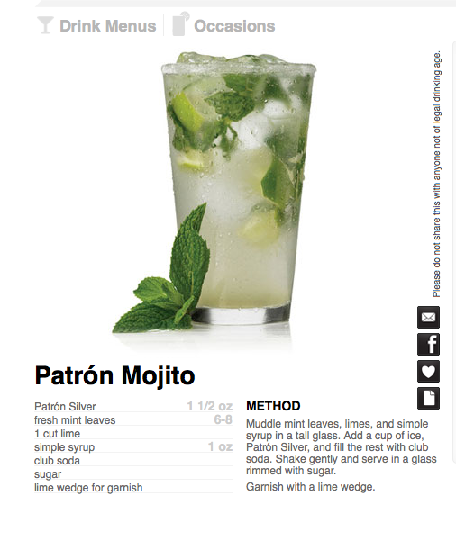 Patron Mojito Tequila Cocktails Easy Cocktails Cocktail Recipes Easy