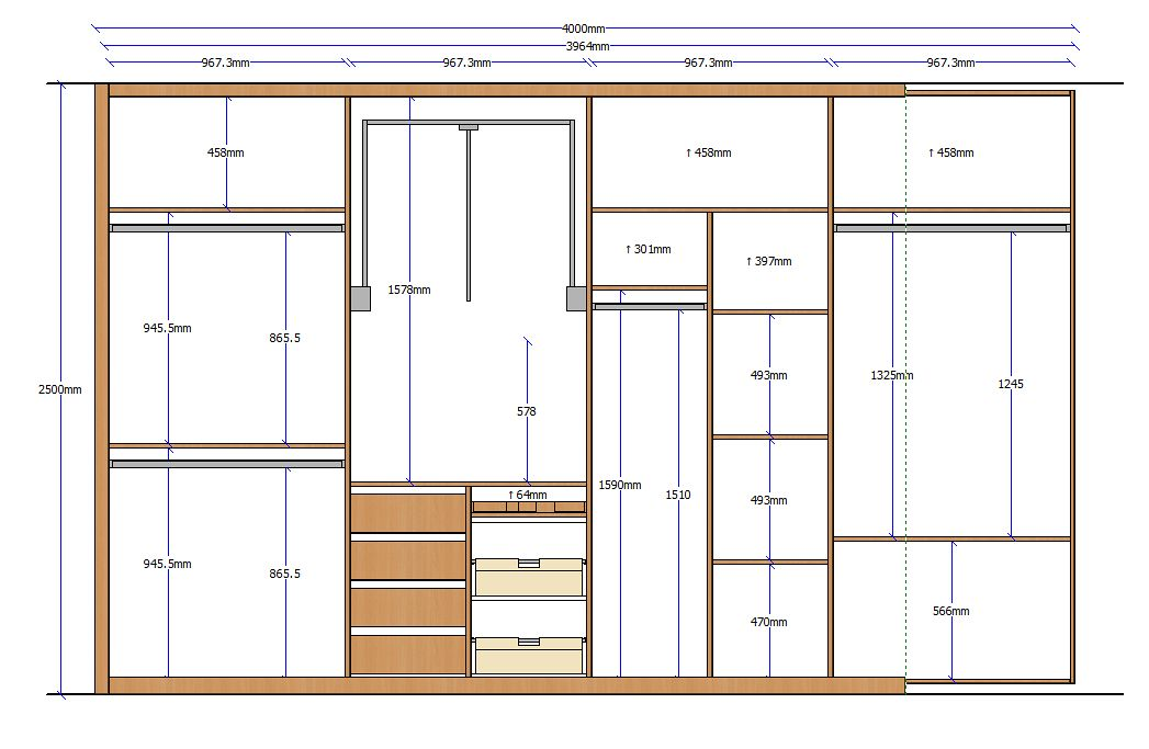 Alzado armario 15 planos de carpinter a pinterest for Planos de carpinteria