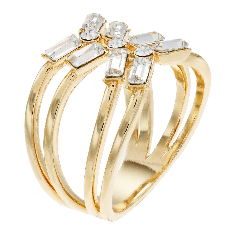 6b81500ac Brilliance Baguette Open X-Shape Ring with Swarovski Crystals #Open,  #Baguette, #Brilliance, #Shape