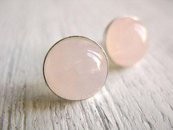 ROSA // Pendientes de plata y Cuarzo rosa por masaoms en Etsy
