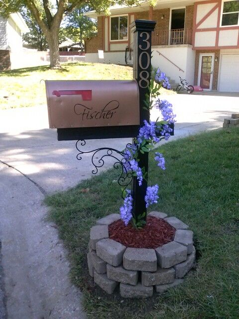mailbox makeover landscaping
