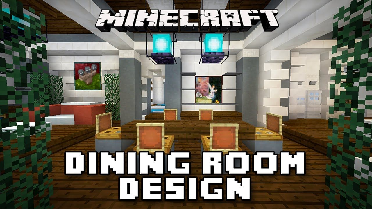 Goodtimeswithscar Minecraft Tutorial How To Build A Dining Room Modern