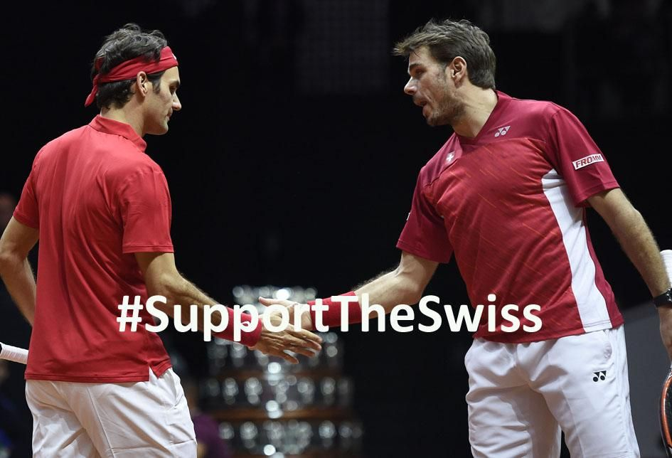 .@DavisCup #SUIvNED It's confirmed @rogerfederer & @stanwawrinka will play! Venue/Ticketsale tbc #SupportTheSwiss
