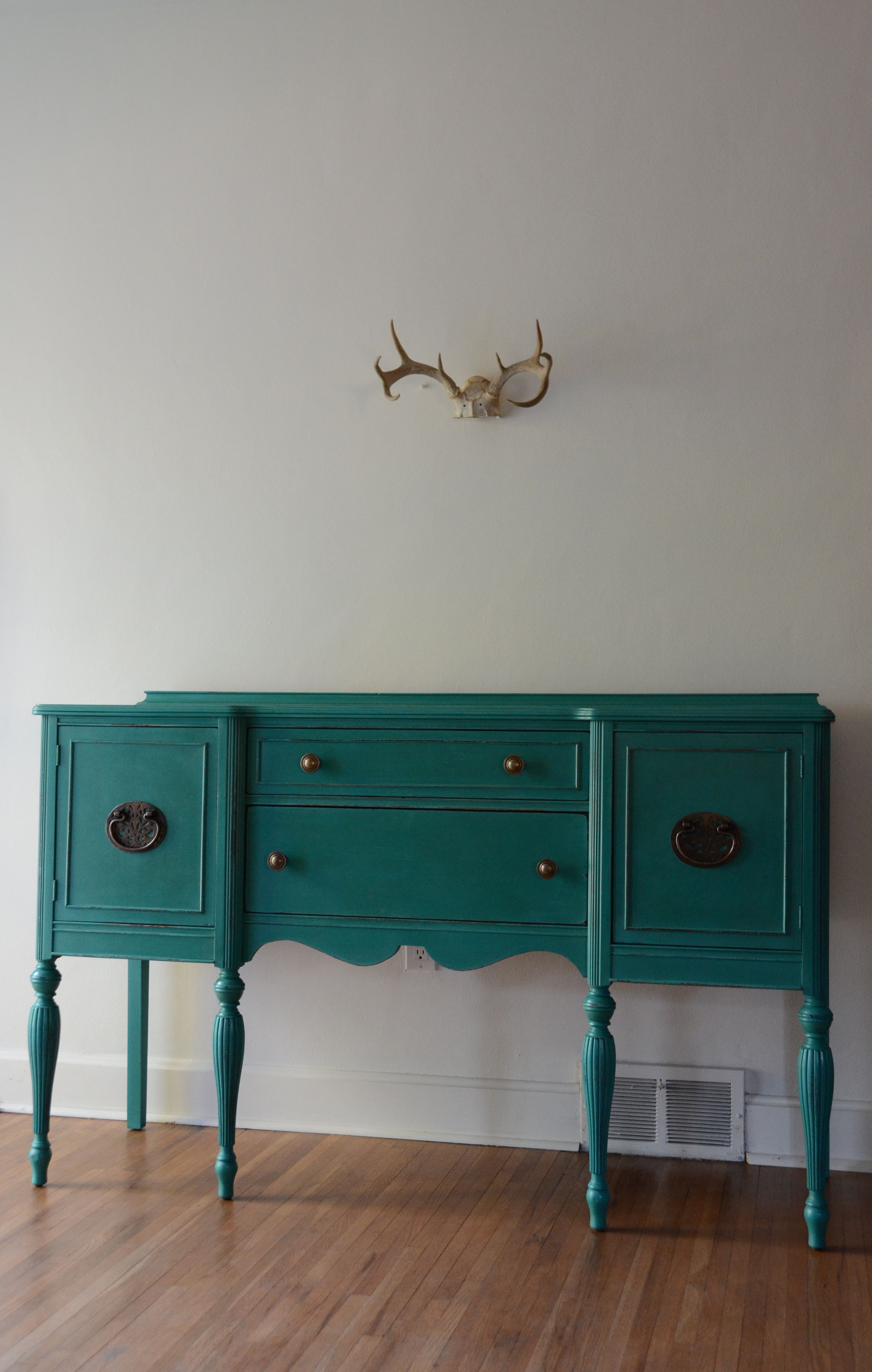 Paint Colors Turquoise Hand Painted Sideboard Buffet Or Entryway Furniture By Estuary