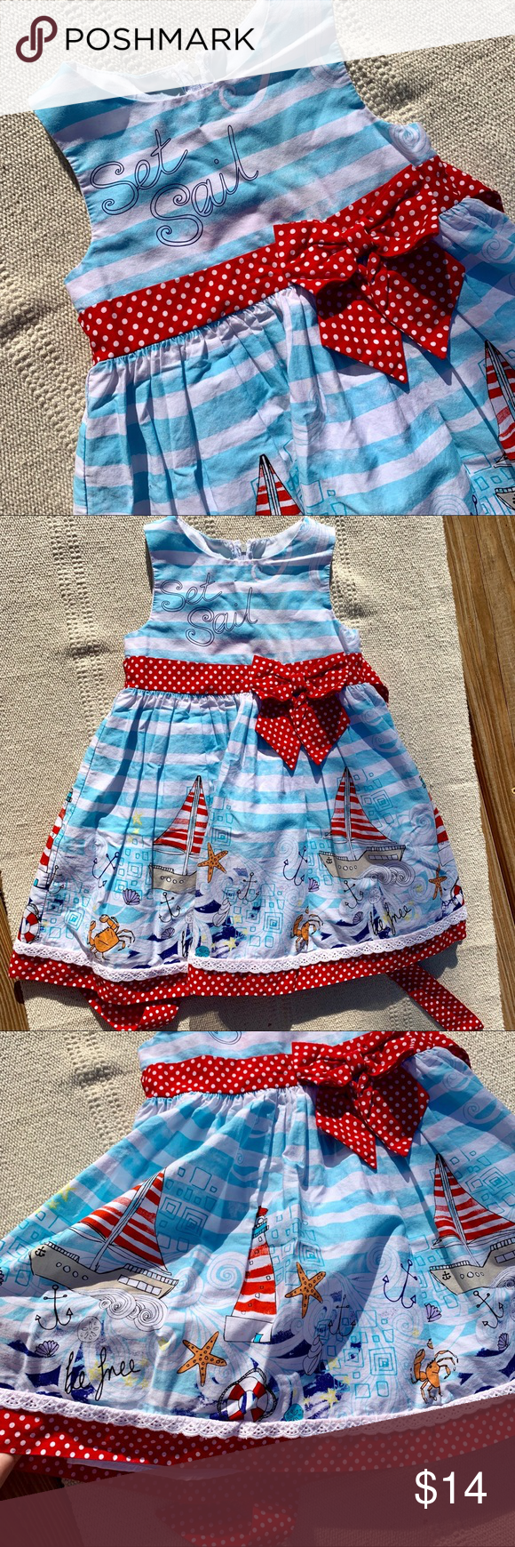 H P Set Sail Toddler 3t Summer Dress Summer Dresses Clothes Design Dresses [ 1740 x 580 Pixel ]