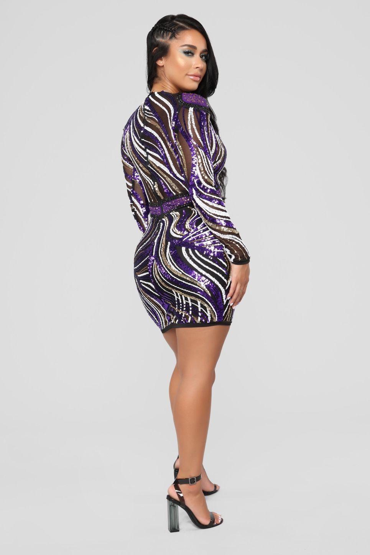 Look So Good Sequin Dress Purple Purple dress, Dresses